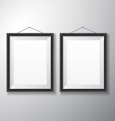 Picture frames black vertical vector