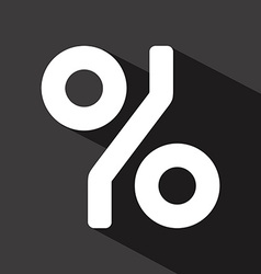 Percent design vector