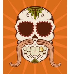 Decorative sugar skull vector