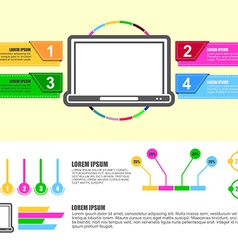 computer infographic design chart vector image