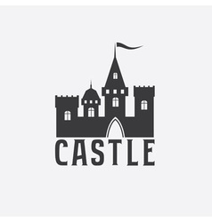 Castle abstract design template vector
