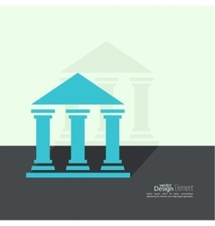 Abstract background with ancient building vector