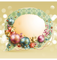 Christmas vintage bubble vector