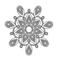 Mandala floral decorative element vector