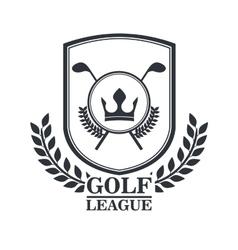 Golf league design vector