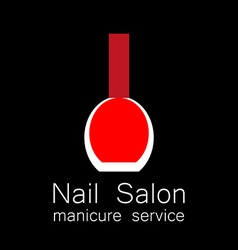 Nail salon manicure vector