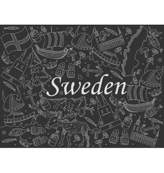 Sweden chalk vector