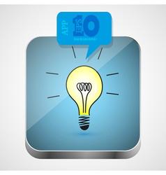 Idea app icon vector image
