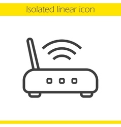 Wi fi router icon vector