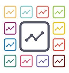 arrows up diagram flat icons set vector image