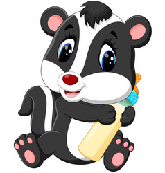 Baby skunk cartoon vector