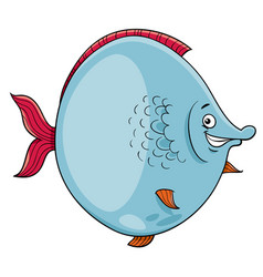 Big fish cartoon character vector