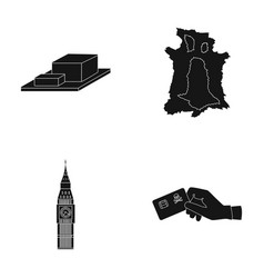 Bones travel and or web icon in black style vector