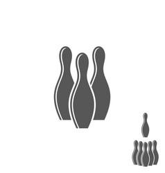 Bowling pin logo vector