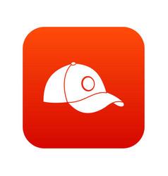 cap icon digital red vector image vector image