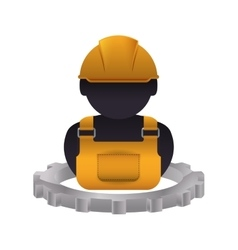 Constructer man and gear design vector