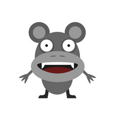 cute grey mouse vector image vector image