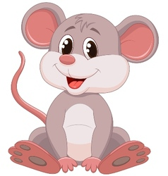 Cute mouse cartoon vector