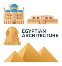 egyptian architecture modern flat design vector image vector image