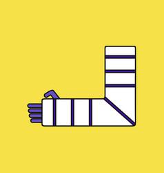 Flat icon design collection broken arm vector