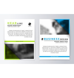 Flyer cover design green and blue Template vector image
