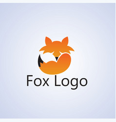 fox ideas design on background vector image