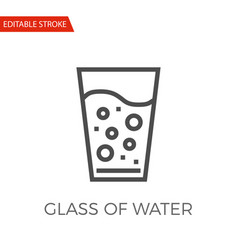 glass of water icon vector image