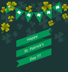 Happy st patricks day greeting vector