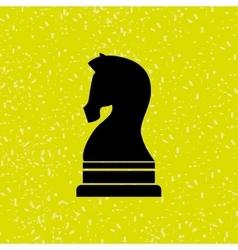 horse chess design vector image