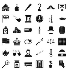 Offence icons set simple style vector