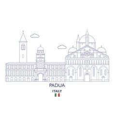 padua city skyline vector image vector image