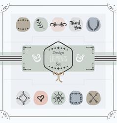 pastel trendy colors emblems card design elements vector image vector image