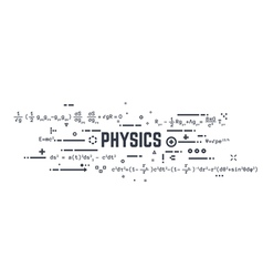 Physics line equations vector image