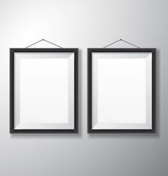 Picture Frames Black Vertical vector image vector image