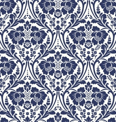 seamless floral damask pattern vector image vector image
