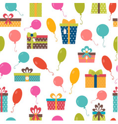 Seamless pattern with colorful gift boxes and vector