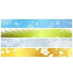 Set of banners of four seasons vector image