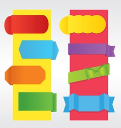 Set of Colorful Banners EPS10 vector image