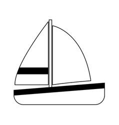 Single sailboat icon image vector