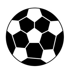 soccer ball sport pictogram vector image