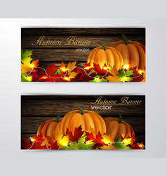Two autumn banners vector