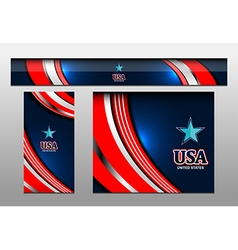 Usa color banner backgrounds vector