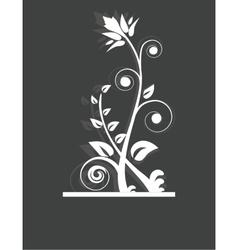 Vintage frame on floral background vector image vector image