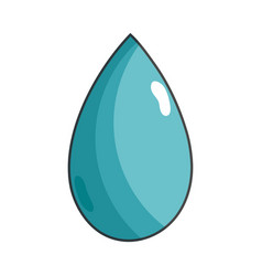 Water drop symbol to environment care vector