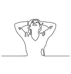 woman screaming in despair vector image