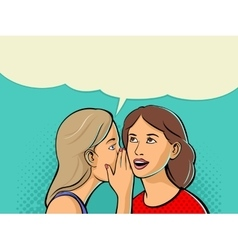 Woman whispering gossip or secret to her friend vector image