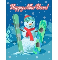 Winter sport card vector