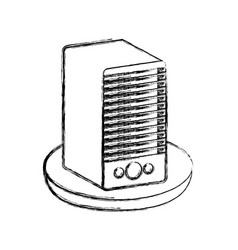 Tower server isolated icon vector