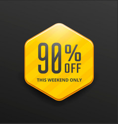 Yellow sale label vector