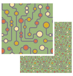 Retro circuit seamless pattern vector